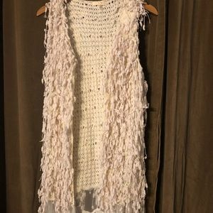 Funky vest with lace bottom trim